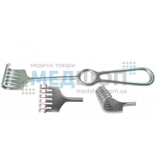 Купить Крючок хирургический 6-зубый тупой - широкий ассортимент в категории Крючки