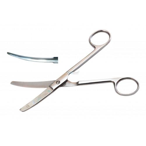 Ножницы верт. изогнутые тупоконечные с твердым сплавом 17 см - Медицинский инструмент
