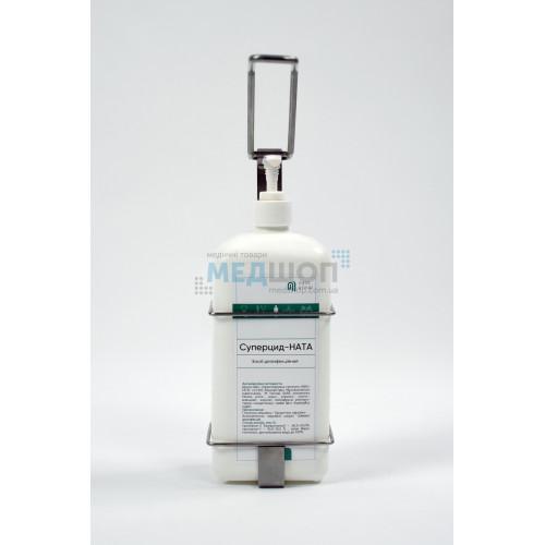 Дозатор локтевой настенный металлический Ната BE-1-NATA-SL