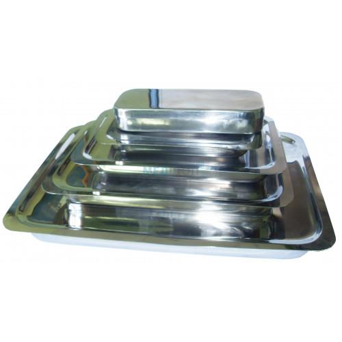 Купить Лотки прямоугольные из нержавеющей стали с крышкой 200х150х25 мм - широкий ассортимент в категории Лотки
