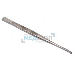 Долото с рифленой ручкой желобоватое изогнутое, 3 мм
