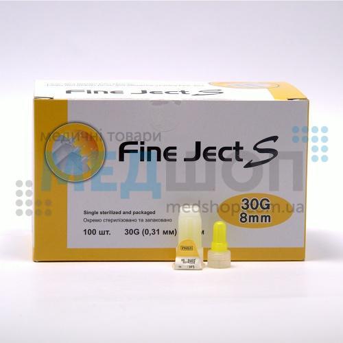 Инсулиновые иголки Fine Ject (Файн Джект) 8мм - Иглы для инсулиновых шприц ручек