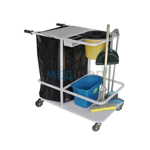 Тележка для уборки помещений ТУП | Тележки медицинские