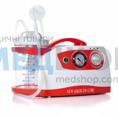 Портативный медицинский аспиратор NEW ASKIR 230/12V BR | Отсасыватели хирургические