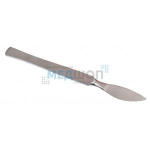 Скальпель брюшистый радиусный малый 14,5 см