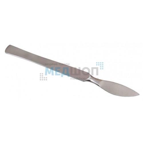 Купить Скальпель брюшистый радиусный малый 14,5 см - широкий ассортимент в категории Скальпели