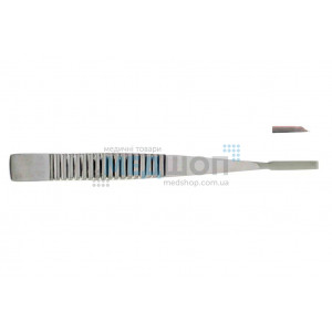 Долото с рифленой ручкой, плоское, 4 мм