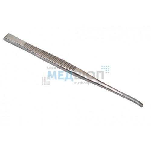 Купить Долото с рифленой ручкой желобоватое изогнутое, 3 мм - широкий ассортимент в категории Долота