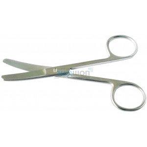 Ножницы тупоконечные изогнутые, длина 11,5 см