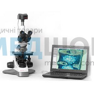"""Микроскоп тринокулярный MC 100Х Crocus с цифровой видеокамерой CAM 500 """"PREMIUM"""" и ПО «MICROVISIBLE»"""