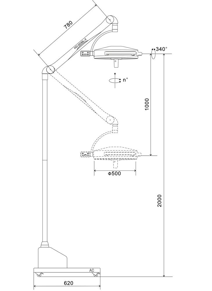 Светильник операционный хирургический KD-2036D-3 купить в Украине