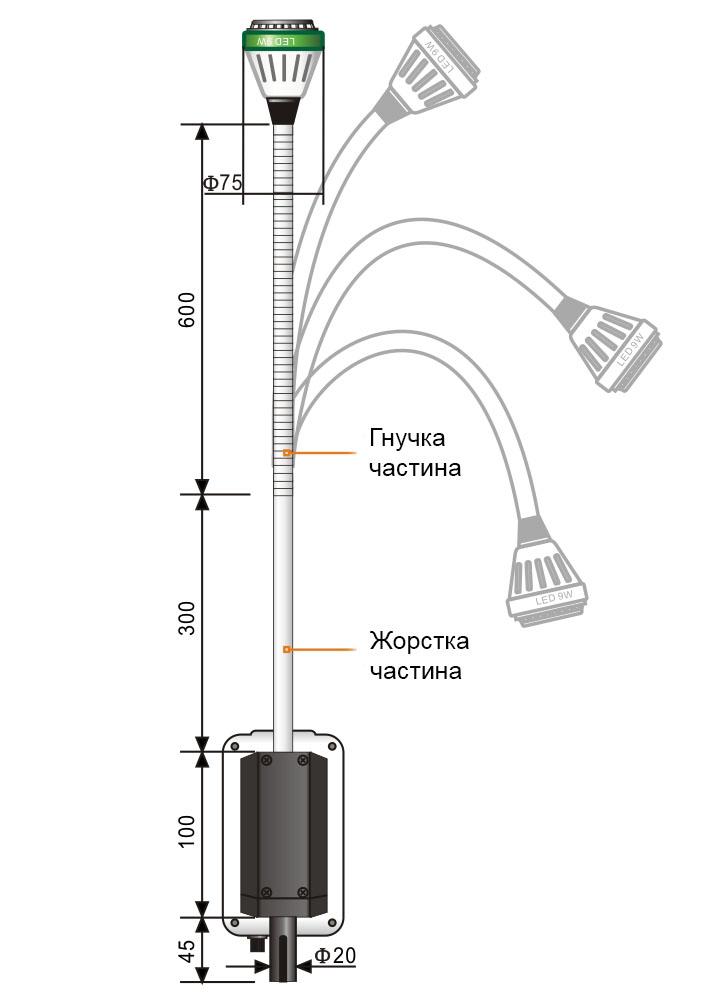 Светильник операционный хирургический KD-202B-3